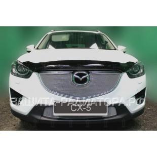 защита радиатора оптимал Мазда СХ-5 (Mazda СХ-5) I рестайлинг 2015-2017 г.в.