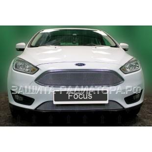 защита радиатора оптимал Форд Фокус 3 (Ford Focus III) рестайлинг 2014-2019 г.в.