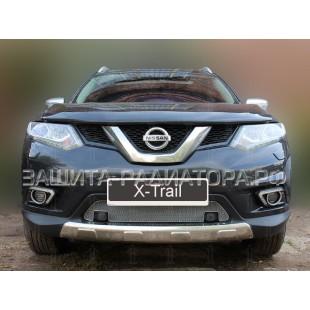 защита радиатора оптимал Ниссан Х Трейл (Nissan X-Trail III) 2015-2019 г.в.