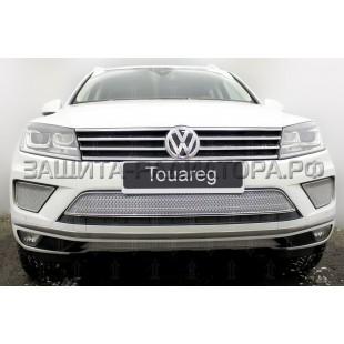 защита радиатора премиум Фольксваген Туарег (Volkswagen Touareg) II рестайлинг 2014-2018 г.в.