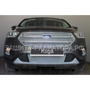 защита радиатора премиум Форд Куга (Ford Kuga) II рестайлинг 2016-2020 г.в.