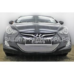 защита радиатора премиум Хендай Элантра (Hyundai Elantra) V 2011-2014 г.в.