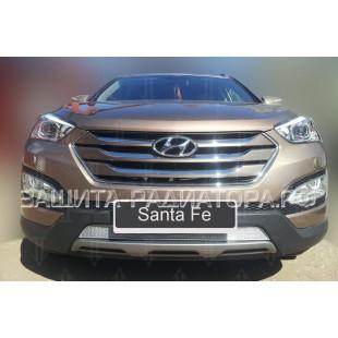 защита радиатора премиум Хендай Санта Фе (Hyundai Santa Fe) III 2015-2018 г.в.