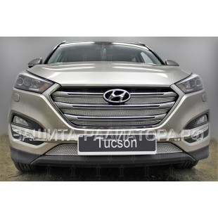защита радиатора премиум Хендай Туссан (Hyundai Tucson) III 2015-2018 г.в.