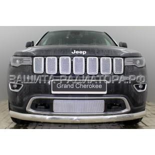 защита радиатора премиум Джип Гранд Чероки (Jeep Grand Cherokee) IV рестайлинг-2 2018-2020 г.в.