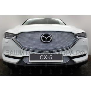 защита радиатора премиум Мазда CX-5 (Mazda CX-5) II 2017-2018 г.в.
