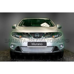 защита радиатора премиум Ниссан Мурано (Nissan Murano) II рестайлинг 2010-2015 г.в.