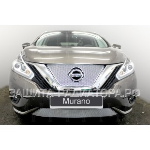 защита радиатора премиум Ниссан Мурано (Nissan Murano) III 2014-2019 г.в.