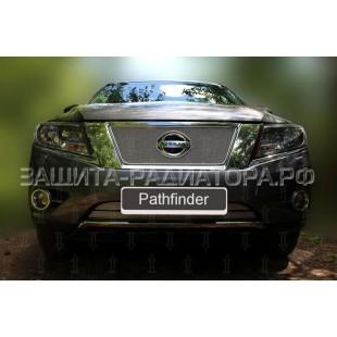 защита радиатора премиум Ниссан Патфайндер (Nissan Pathfinder) IV 2014-2017 г.в.