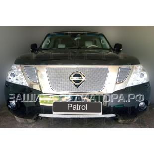 защита радиатора премиум Ниссан Патрол (Nissan Patrol) VI 2010-2013 г.в.