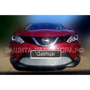 защита радиатора премиум Ниссан Кашкай (Nissan Qashqai) II 2013-2019 г.в.