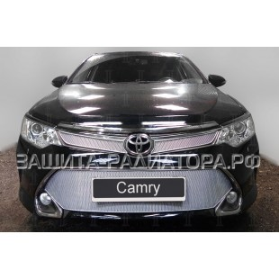 защита радиатора премиум Тойота Камри (Toyota Camry) (VII рестайлинг XV50-XV55) 2014-2017 г.в.