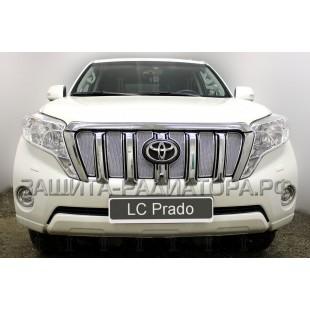 защита радиатора премиум Тойота ЛК Прадо (Toyota LC Prado) (150) рестайлинг 2013-2017 г.в.