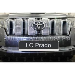 защита радиатора премиум Тойота ЛК Прадо (Toyota LC Prado) 150 Series рестайлинг-2 2017-2019 г.в.