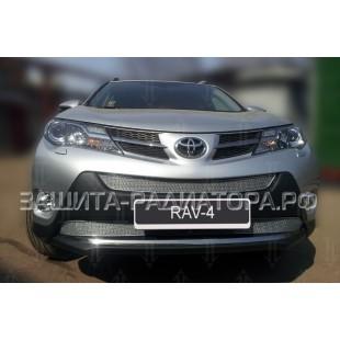 защита радиатора премиум Тойота Рав 4 (Toyota Rav 4) (IV CA40) 2013-2015 г.в. Комфорт, Элеганс, Престиж