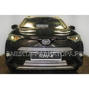 защита радиатора премиум Тойота Рав 4 (Toyota Rav 4) (IV рестайлинг CA40) 2015-2019 г.в.