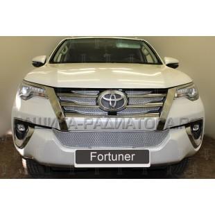 защита радиатора премиум Тойота Фортунер (Toyota Fortuner) II 2015-2020 г.в.