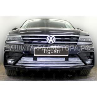 защита радиатора премиум Фольксваген Тигуан (Volkswagen Tiguan) II (Sportline) 2016-2018 г.в.