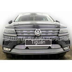 защита радиатора премиум Фольксваген Тигуан (Volkswagen Tiguan) II 2016-2020 г.в.