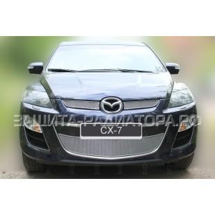 защита радиатора премиум Мазда CX-7 (Mazda CX-7) I рестайлинг 2009-2012 г.в.
