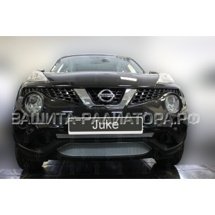 защита радиатора премиум Ниссан Жук (Nissan Juke) I рестайлинг 2014-2019 г.в.