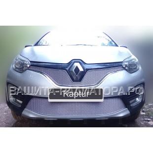 защита радиатора премиум Рено Каптур (Renault Kaptur) 2016-2020 г.в.