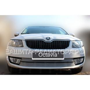 защита радиатора премиум Шкода Октавия (Skoda Octavia) A7 2013-2017 г.в. Ambition-Elegance