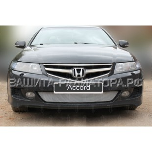 защита радиатора Хонда Аккорд (Honda Accord) VII рестайлинг 2006-2008 г.в.