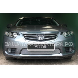 защита радиатора Хонда Аккорд (Honda Accord) VIII рестайлинг 2011-2013 г.в.