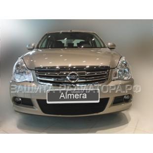 защита радиатора Ниссан Альмера (Nissan Almera) III 2012-2020 г.в.