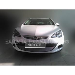 защита радиатора Опель Астра (Opel  Astra) J (GTC) 2010-2012 г.в.