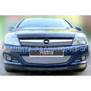 защита радиатора Опель Астра (Opel Astra) H рестайлинг 2006-2015 г.в.