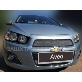защита радиатора Шевроле Авео (Chevrolet Aveo) II 2012-2018 г.в.