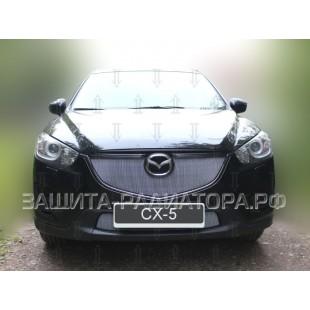 защита радиатора Мазда СХ-5 (Mazda CX-5) I рестайлинг 2015-2017 г.в.