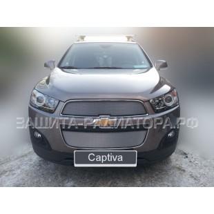 защита радиатора Шевроле Каптива (Chevrolet Captiva I) рестайлинг 2 2013-2018 г.в.