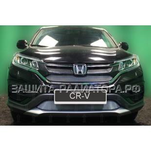 защита радиатора Хонда СРВ (Honda CR-V) IV рестайлинг (2.0) 2015-2016 г.в.