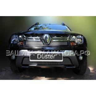 защита радиатора Рено Дастер (Renault Duster) I рестайлинг 2015-2019 г.в.