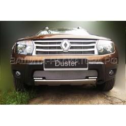 защита радиатора  Рено Дастер (Renault Duster) I 2011-2015 г.в. с ДХО
