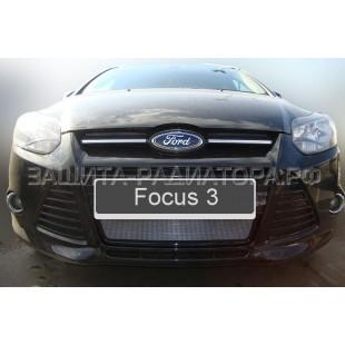 защита радиатора Форд Фокус 3 (Ford Focus III) 2011-2015 г.в.