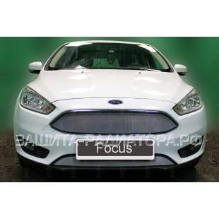 защита радиатора Форд Фокус 3 (Ford Focus III) рестайлинг 2014-2019 г.в.