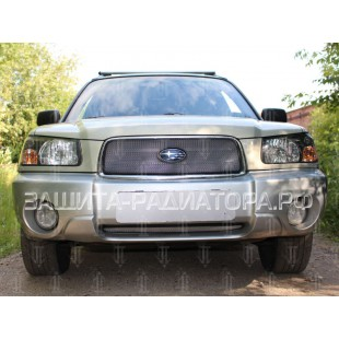 защита радиатора Субару Форестер (Subaru Forester) II рестайлинг 2005-2008 г.в.