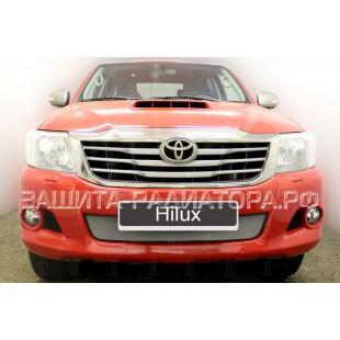 защита радиатора Тойота Хайлюкс (Toyota Hilux) VII рестайлинг 2011-2015 г.в.
