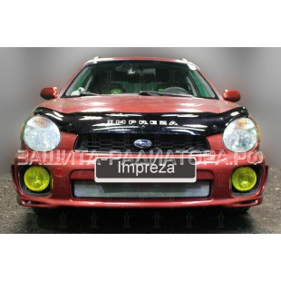 защита радиатора Субару Импреза 2 (Subaru Impreza II) 2000-2002 г.в.