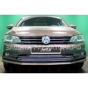 защита радиатора Фольксваген Джетта 6 (Volkswagen Jetta VI) рестайлинг 2015-2018 г.в.