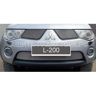защита радиатора Митсубиси Л200 (Mitsubishi L200) IV 2006-2010 г.в.