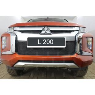 защита радиатора Митсубиси Л200 (Mitsubishi L200) V рестайлинг 2018-