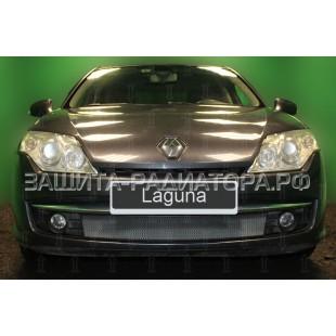 защита радиатора Рено Лагуна 3 (Renault Laguna III) 2007-2011 г.в.