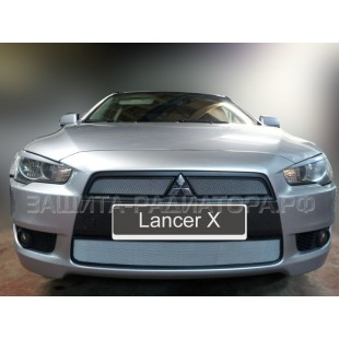 защита радиатора Митсубиси Лансер 10 (Mitsubishi Lancer X) 2007-2011 г.в.