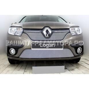 защита радиатора Рено Логан (Renault Logan) II рестайлинг 2018-2020 г.в.