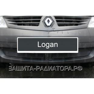 защита радиатора Рено Логан (Renault Logan) 2004-2009
